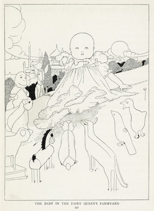The Baby in the Fairy Queen's Farmyard