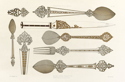 Argenterie persanne......E. Collinot & A. de Beaumont, Ornements de la Perse, Paris: Canson et Compagnie, 1880, pl.38