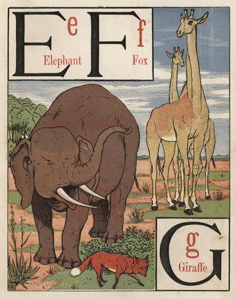 'E F G'