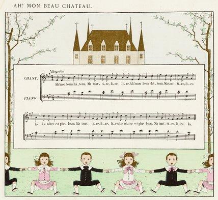 Ah! Mon Beau Château [score]; from 'Vieilles chansons pour les petits enfants avec accompagnements de Ch. M. Widor', 1884