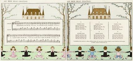 Ah! Mon Beau Château; from 'Vieilles chansons pour les petits enfants avec accompagnements de Ch. M. Widor', 1884