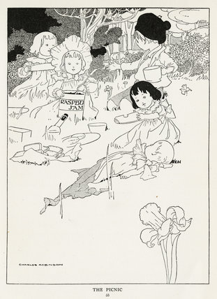 The Picnic, from Evelyn Sharp's 'The Story of the Weathercock', London: Blackie & Son, [1907]