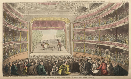 Doctor Syntax at Covent Garden Theatre, from 'The Tour of Doctor Syntax in search of the Picturesque', London 1812