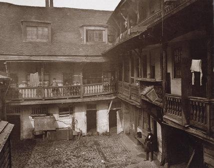 The Inn Yard,  The Oxford Arms, Warwick Lane, 1875
