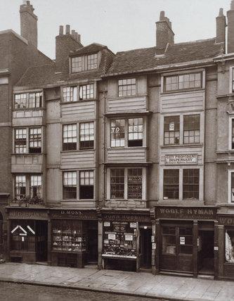 Old Houses in Aldersgate Street