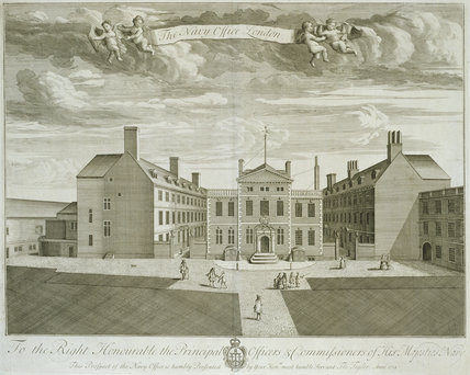 The Navy Office, London, from T. Badeslade & J. Rocque's 'Vitruvius Brittanicus, volume the fourth', London 1739