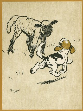 The Playful Lamb, from Cecil Aldin's 'Field Babies', London: Humphrey Milford, Oxford University Press, [1919?]