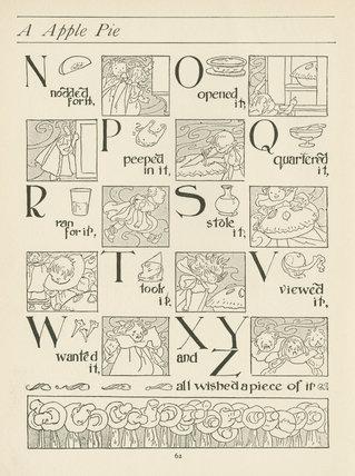 A Apple Pie; Walter Jerrold (ed.), 'The big book of nursery rhymes',London: Blackie & Son Ltd., [1903]