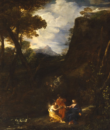 Landscape with Christ and Two Angels