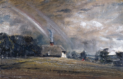 Landscape Study: Cottage and Rainbow