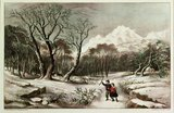 Woodlands in Winter, published by Nathaniel Currier and James Merritt Ives