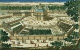 View and Perspective of the Salon de la Menagerie at Versailles, engraved by Antoine Aveline  