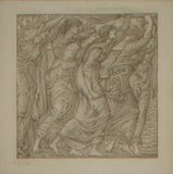 No.1183-5 The Burning of the Ships, illustration for Virgil's `Aeneid`, 1874