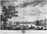 Port of La Rochelle, seen from the small shore, series of &#039;Les Ports de France&#039;, engraved by Charles Nicolas Cochin the Younger  and Jacques Philippe Le Bas  1767 