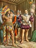 Ferdinando Cortes imprisoning Montezuma