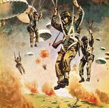 British 1st Airborne Division dropping on Arnhem on 17th September, 1944