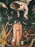 The Garden of Earthly Delights: Hell, detail from the right wing of the triptych, c.1500