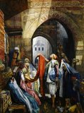 A Cairo Bazaar - The Della&#039;l, 1875 