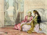 The Harem, plate 1 from &#039;Illustrations of Constantinople&#039;, engraved by the artist, 1837 