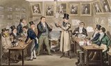 Cribb's Parlour: Tom introducing Jerry and Logic to the Champion of England, from 'Life in London' by Pierce Egan, 1821