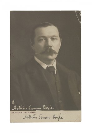Sir Arthur Conan Doyle, postcard, printed by Raphael Tuck & Sons