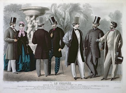Parisian Fashion plate for 'Le Progres', June 1864