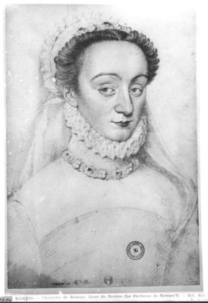 Portrait of Charlotte de Beaune  Dame de Sauves, 16th-17th century