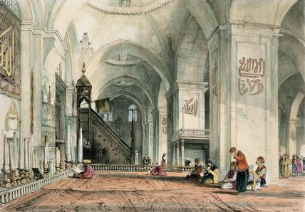 Great Mosque at Brussa, plate 24 from 'Illustrations of Constantinople', engraved by the artist, pub. 1838