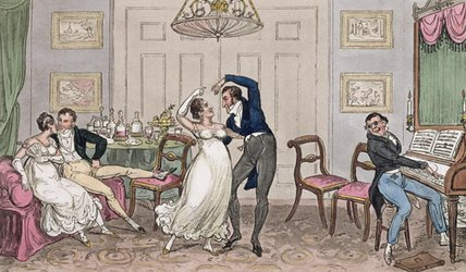 An Introduction: Gay moments of Logic, Jerry, Tom and Corinthian Kate, from 'Life in London' by Pierce Egan, 1821
