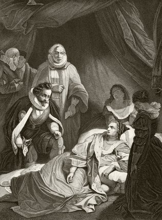 Queen Elizabeth I on her death bed, from 'The National and ...