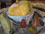 Still Life with Gourd in a Blue Bowl, c.1916