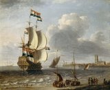 A Dutch East-Indiaman off Hoorn