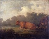 Landscape with Cattle (A Cow Resting)