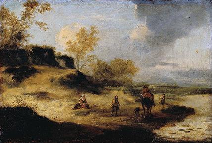 Sandhills with Figures