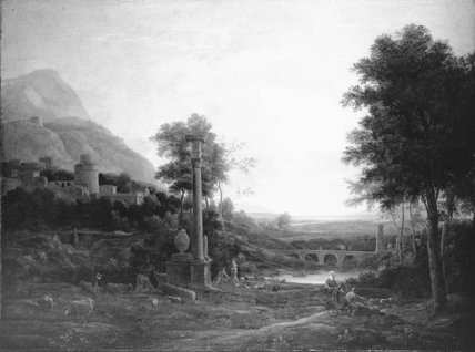 Landscape with a Column and Figures