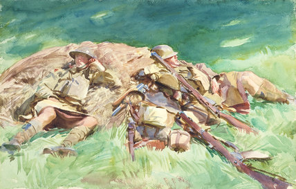 Highlanders Resting at the Front