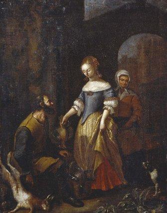Lady buying Game