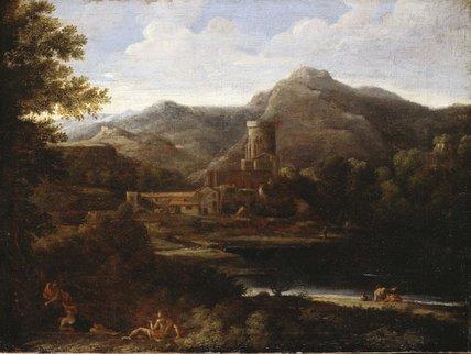 Village near a Lake