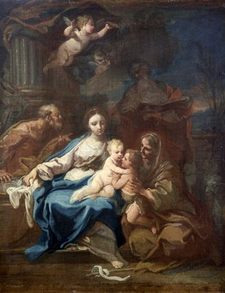 Holy Family with St Anne, the Baptist and Zacharias