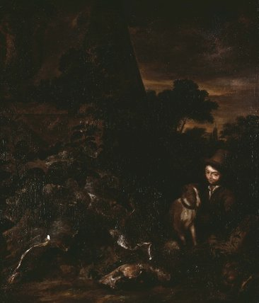 Landscape with Sportsman