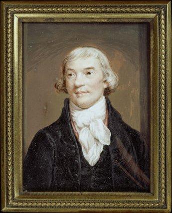 Miniature portrait of Noel Desenfans