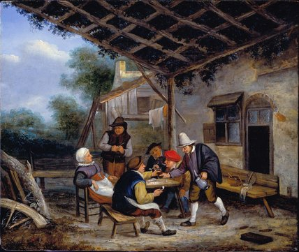 Peasants drinking