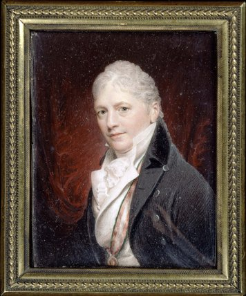Miniature portrait of Sir Peter Francis Bourgeois