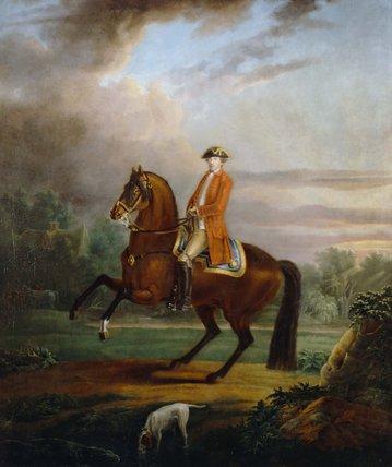 A man, called Noel Desenfans on Horseback