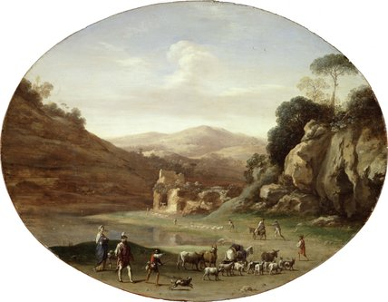 Valley with Ruins and Figures