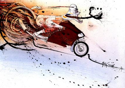 Hunter on Ducati