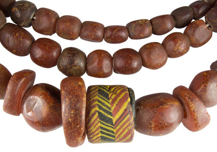 Anglo Saxon amber bead necklace