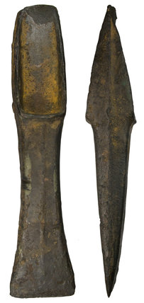 Bronze Age palstave with iron staining