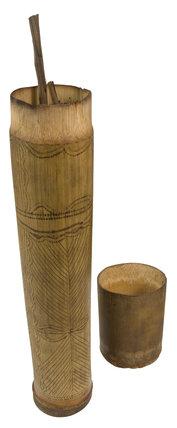 Bamboo sheath of blowgun darts