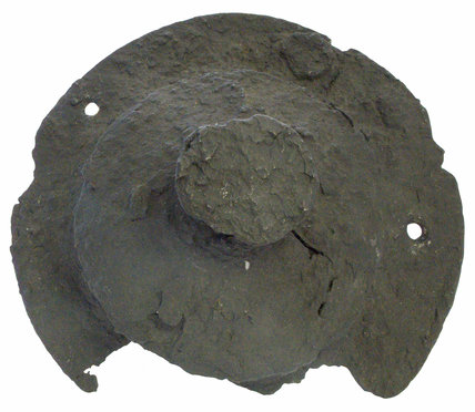 Anglo Saxon iron shield boss front view